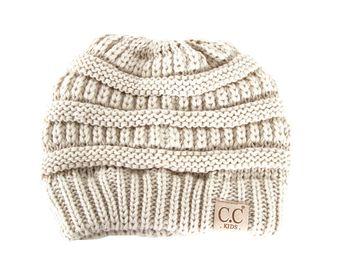 4e0561f0e28 C.C. Beanie Cable Knit Beanie for Kids in Beige YJ847-KIDS-BEIGE