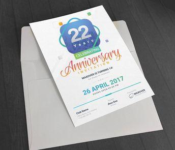 Anniversary Invitation by GenerousArt on @creativemarket