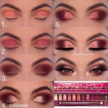 "Hani Liha on Instagram: ""Yay or Nay ? to this look @urbandecaycosmetics Cherry palette #urbandecay #urbandecaycosmetics #cherrypalette #wakeupandmakeup…"""