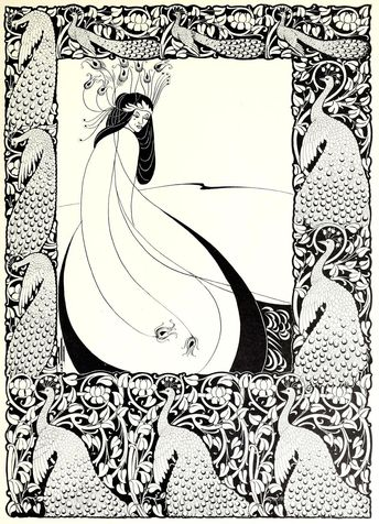 Aubrey Beardsley Venus Between Terminal Gods Picture Poster Art Print A4