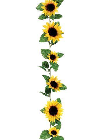 ca3f386aac1ae Silk Sunflower Flower Garland in Yellow - 6  Long
