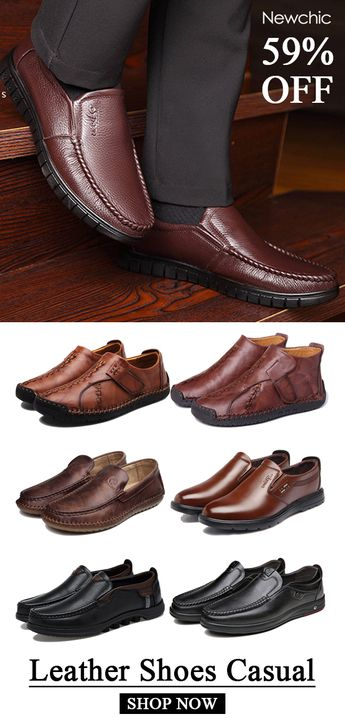 Shop Newchic.com to see the latest trendy leather shoes casual for any occasion. #mensfashion #shoes #casual