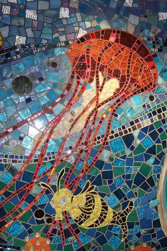 Bathroom Mosaic - Jellyfish
