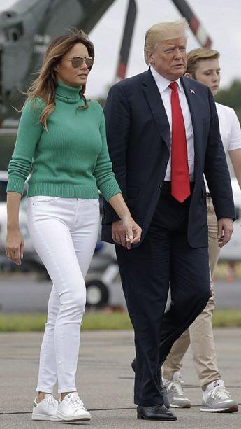 President, First Lady Melania Trump & Barron, 8/19/18