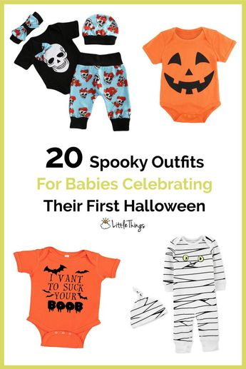 20 Spooky Outfits For Babies Celebrating Their First Halloween: #Halloween is just one day of the year, but it can be celebrated all fall long. Get #baby into the festivities with one of these spooky #HalloweenCostumesForBaby