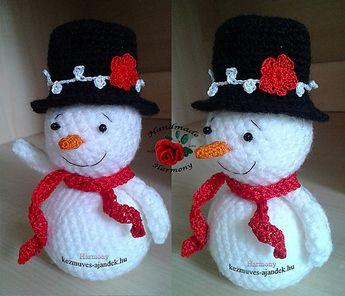 Snowman pattern by Timea Csik
