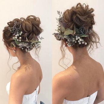"""Yukiko Hattori on Instagram: """". . グランドハイアットにて結婚式のtomoさん♪ .  #ジェニーパッカム のアクセサリーに、生花を。 . パープル系の草原のお花が、 . 大人なデザインのドレスに . 爽やかになじみました♪ . . 素敵♡ . .…"""""""