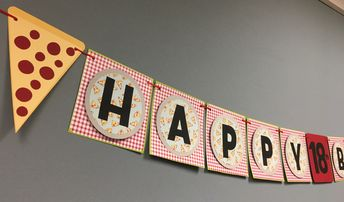 Pizza Party Banner www.craftyhoot.etsy.com