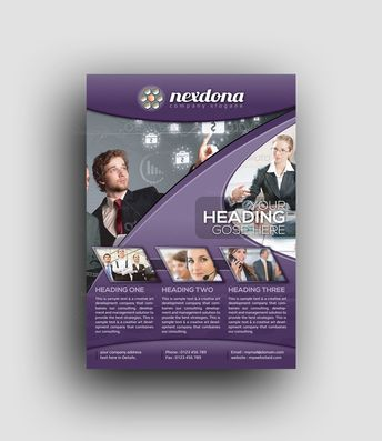 EPS Corporate Business Flyer Design Templates - Graphic Templates