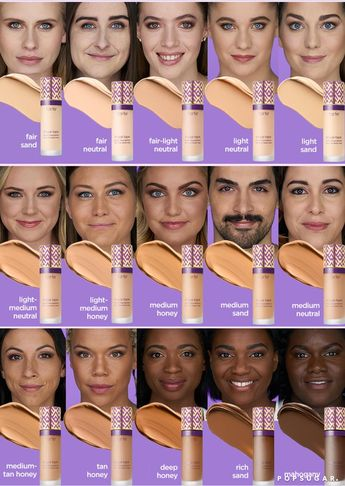 Tarte Shape Tape Foundation Swatches and Shades