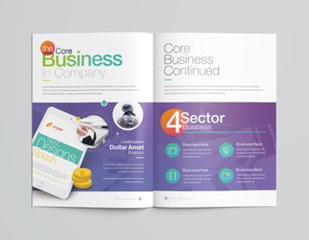 16 Pages Rainbow Professional Corporate Brochure Template - Graphic Templates