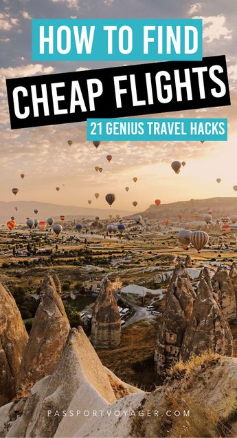 Are you on a tight budget but still want to travel the world? We've got you covered! Our guide to 21 of some of the most reliable & creative hacks for finding cheap flights (by travel experts!) will help you plan your trip and book your flights while saving money. #travel #travelhacks #cheapflights #budgettravel