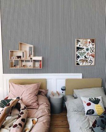 37+ Ideas Bedroom Wallpaper Stripes Black And White For 2019 #bedroom