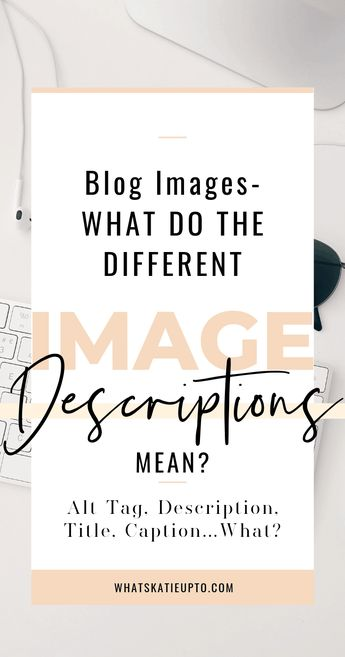When you upload an image to your WordPress Blog there are many Blog Image Descriptions you can input and it can get super confusing. So what is what Image Caption, Description, Alt Description, URL and Title gemme a breack ;) blog writing, wordpress tips blogging tips #blogimages #blogphotography #imagedescriptions #bloggingtips #blogger #wordpress