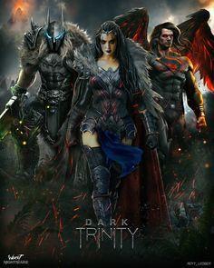 ArtStation - Dark Trinity - Worst Nightmare DC fanart series , Royy _Ledger