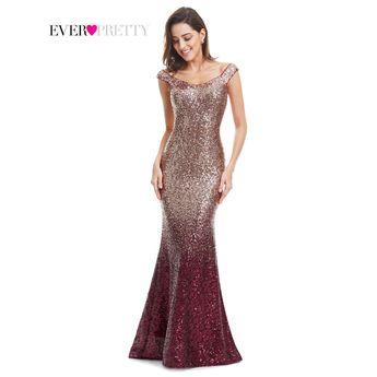 c0fcaab7b150 Evening Dress Long Sparkle Ever-Pretty 2017 New V-Neck Women Elegant  EP08999 Sequin