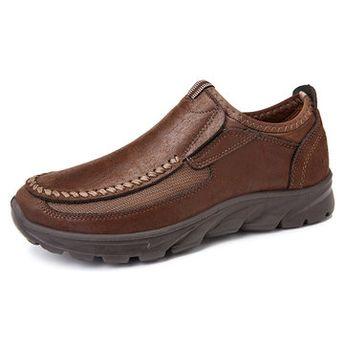 Zapatos casuales estilo viejo pekín de tela de talla grande para hombres - NewChic Móvil