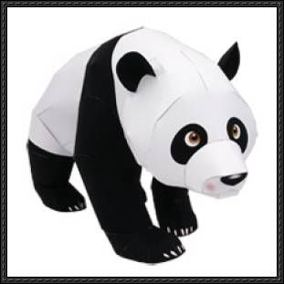 Canon Papercraft: Animals Paper Model - Giant Panda free papercraft download