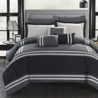 Chic Home Zarah 10 Piece Comforter Set Size: King
