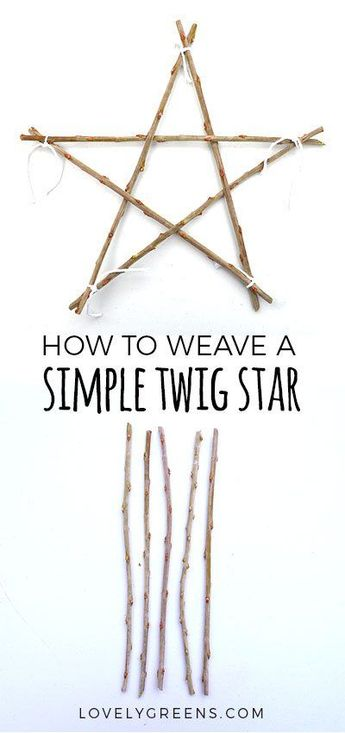 How to make a Simple Twig Star