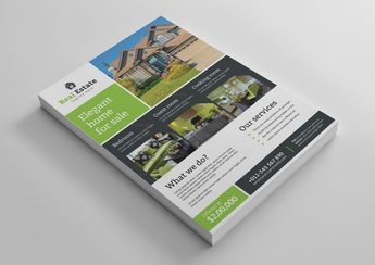 Super Real Estate Flyer Design Template - Graphic Templates