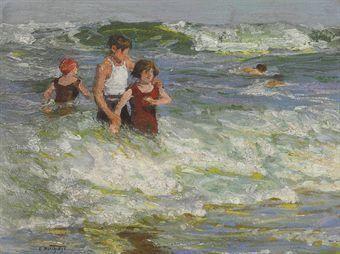In Summertime by Edward Henry Potthast   Blouin Art Sales Index