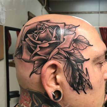 Got to do this small cover up on @billaquinotattoos this is his design if you like quality tattoos follow him. currently taking appointments! Done @heartanddaggertattoos #rosetattoo #rose #roses #rosestattoo #tattoo #tattoos #blackandgreytattoo #blackandgreytattoos #blackandgreyink #headtattoo #headtattoos #headtat #neotraditionaltattoo #neotradtattoo #neotraditionalrose #traditionaltattoo #traditionalrosetattoo #ink #inked #inkedpeople #guyswithtattoos #guyswithtats #art #artist