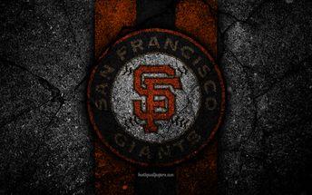 new concept ee722 cbd40 Download wallpapers 4k, San Francisco Giants, logo, MLB, baseball, USA,