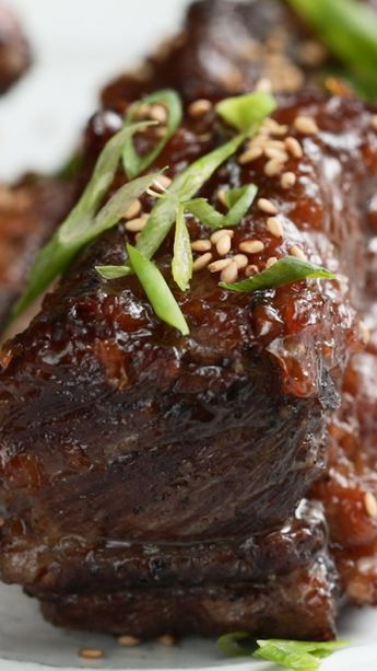 Roasted Short Ribs With Red Miso Glaze and Hibachi-Style Fried Rice