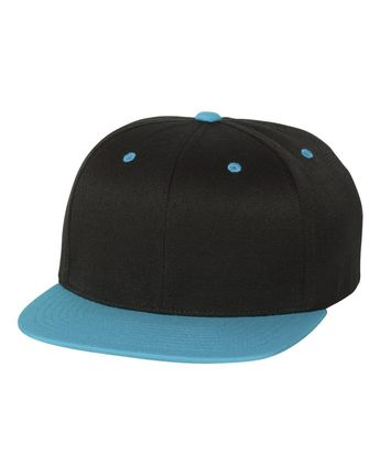 258f8589 @workshopcity posted to Instagram: Flexfit Black/ Teal One Ten Flat Bill  Snapback Cap