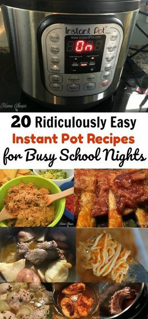 20 Ridiculously Easy Instant Pot Recipes for Busy School Nights