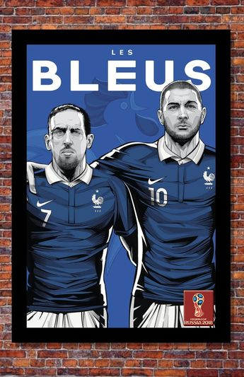 2018 World Cup Soccer Russia | TEAM FRANCE Poster | 13 x 19 inches
