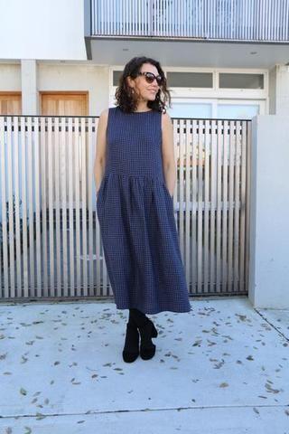 Felicia Pinafore Dress Pattern - Plus Size (18-20-22)