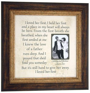 Wedding Frame Mother of the bride. Maybe with a pic of mom