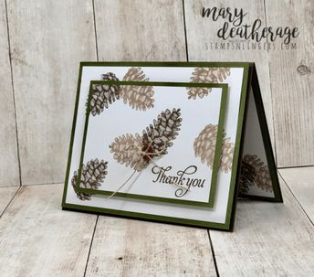 Stampin' Up! Double-Time Painted Pinecone Season   Stamps – n - Lingers