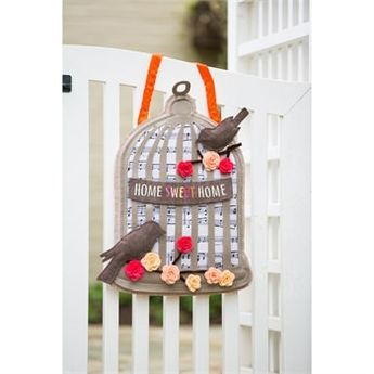 """Home Sweet Home Bird Cage Door Decor - 16"""" x 21.75"""" - Evergreen"""