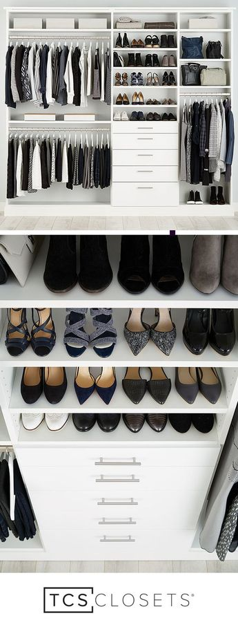 EVERYTHING YOU'VE EVER DREAMED OF IN A CLOSET   With so many closet options, you can customize to your heart's content.