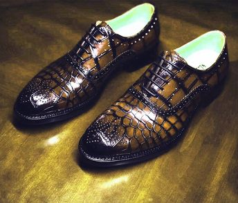 Brown crocodile shoes for sale