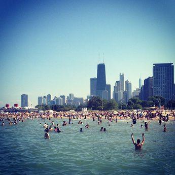 North Avenue Beach in Chicago, IL