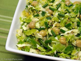 Raw Brussels Sprouts Salad with Pecorino Romano, Chives, and a Lemony Caper Dressing 2 by Farmgirl Susan, via Flickr