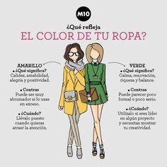 ¿Qué refleja el color de tu ropa