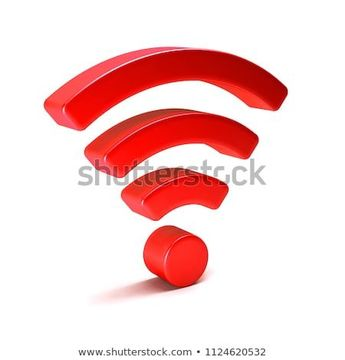 Wireless wifi 3D render illustration isolated  #wifi #3d #red #sign #symbol #icon #network #internet