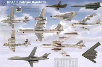 USAF Strategic Airplane Bombers Educational Military Chart Poster Print at AllPosters.com