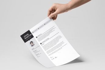 Minimalist CV Design Templates 002888 5