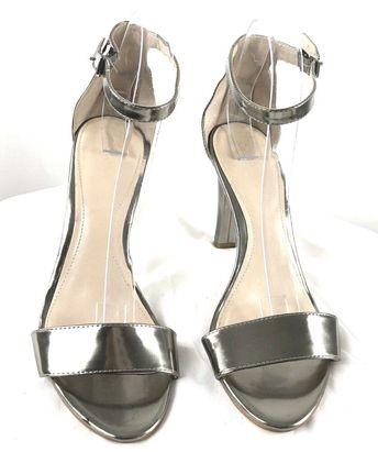 05b67192621 Details about Calvin Klein Vable Metallic Stingray Dark Silver Ankle Strap  Dress Sandal 10 M