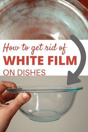 Wondering how to get rid of white film from your dishes? Remove the white film with these two household ingredients. #whitefilm #dishes #cleaning - http://argon-toptrendspint.jumpsuitoutfitdressy.tk