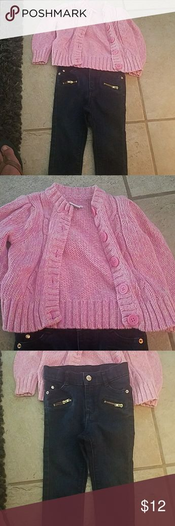 0991b9720bb Sweater and jeans for baby girl 24 mo Cherokee sweater and 18 mo Oshkosh  jeans OshKosh