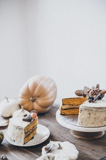 PUMPKIN & CREAM CHEESE LAYER CAKE — Days of Camille
