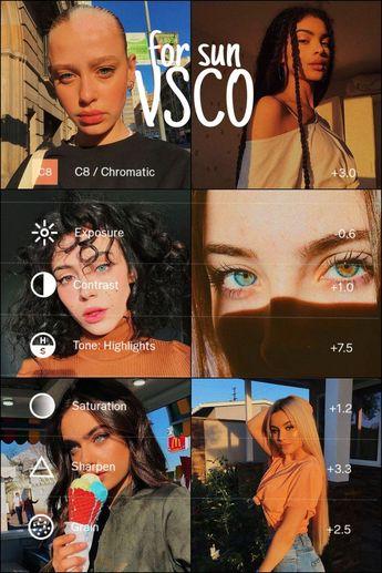 Filter for sun vsco cam - #Fotografiehacks #Fotografieideen #Fotografiespickzettel #Glaskugelfotografie #Photographyideen #Portraitfotografie