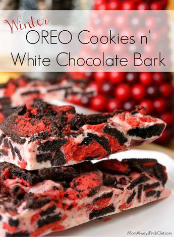 OREO Cookies and White Chocolate Bark